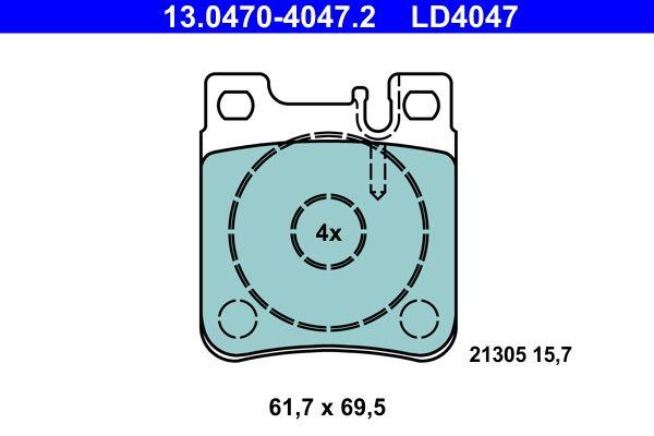 Original CHRYSLER Bremsbelagsatz Scheibenbremse 13.0470-4047.2