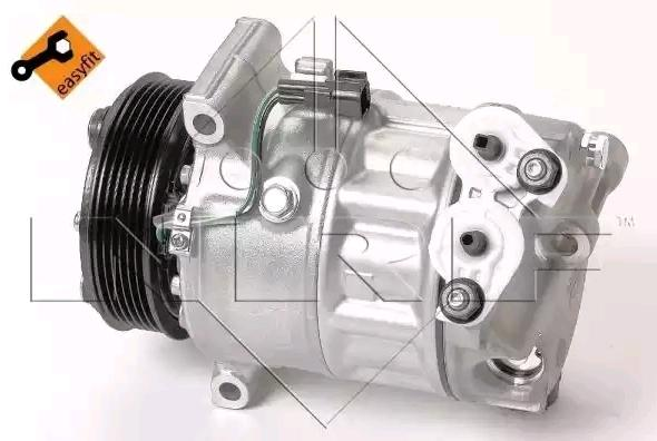 MAZDA CX-3 Klimakompressor - Original NRF 32816 Riemenscheiben-Ø: 110mm, Anzahl der Rillen: 6