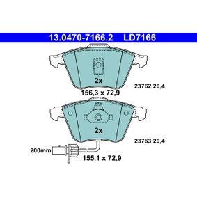 ATE 13.0460-7166.2 Bremsbeläge Bremsbelagsatz für AUDI