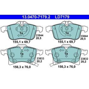13.0470-7179.2 Bremsbelagsatz, Scheibenbremse ATE - Markenprodukte billig