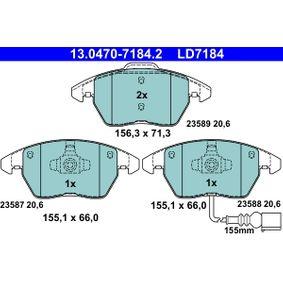 13.0470-7184.2 Piduriklotsi komplekt, ketaspidur ATE - Soodsate hindadega kogemus