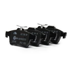 24137 ATE Ceramic nicht für Verschleißwarnanzeiger vorbereitet, exkl. Verschleißwarnkontakt Höhe: 52,0mm, Breite: 123,0mm, Dicke/Stärke: 16,6mm Bremsbelagsatz, Scheibenbremse 13.0470-7195.2 günstig kaufen