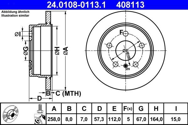 24.0108-0113.1 Scheibenbremsen ATE - Markenprodukte billig