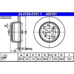 Brake Disc 24.0109-0101.1 for ALFA ROMEO 1750-2000 at a discount — buy now!