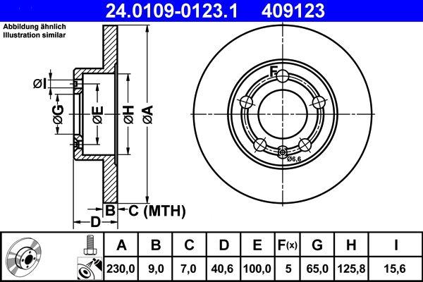 ATE   Спирачен диск 24.0109-0123.1