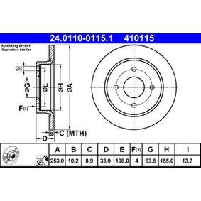 24.0110-0115.1 Brzdový kotouč ATE - Levné značkové produkty