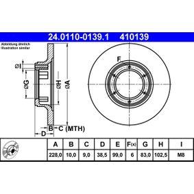 Disque de frein 24.0110-0139.1 RENAULT 6 à prix réduit — achetez maintenant!