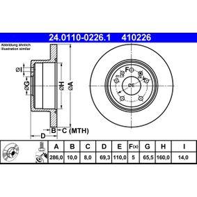 Piduriketas 24.0110-0226.1 eest SAAB 9-3 (YS3D) — saage pakkumine nüüd!