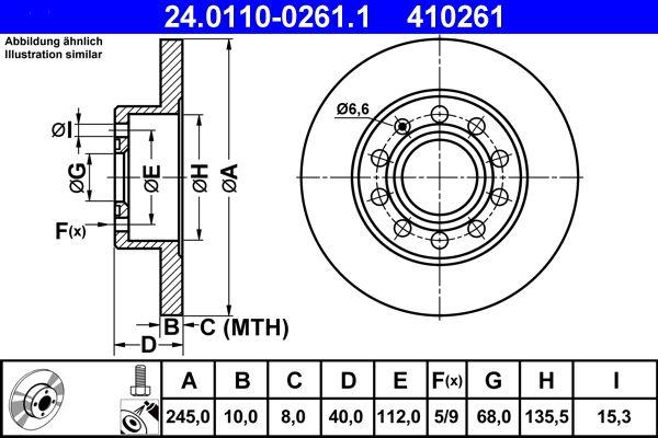 24.0110-0261.1 Scheibenbremsen ATE - Markenprodukte billig