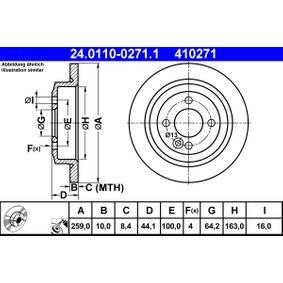 24.0110-0271.1 Scheibenbremsen ATE - Markenprodukte billig