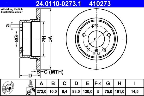 24.0110-0273.1 Bremsscheibe ATE Test