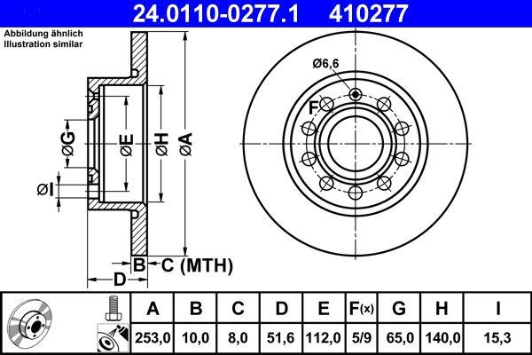 Ersatzteile für Audi A3 8P1 Bj 2007: Bremsscheibe 24.0110-0277.1 zu stark reduzierten Preisen!