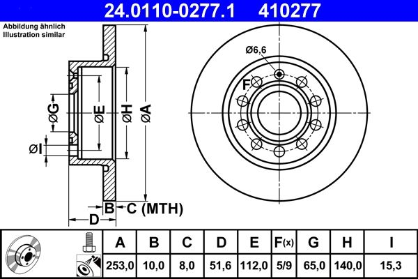 VW Disques de frein d'Origine 24.0110-0277.1