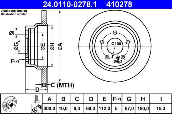 24.0110-0278.1 Bremsscheibe ATE Test
