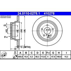 24.0110-0278.1 Bremsscheiben ATE in Original Qualität