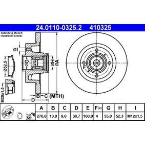 24.0110-0325.2 Scheibenbremsen ATE - Markenprodukte billig
