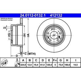 Bremžu diski 24.0112-0132.1 par BMW 8 (E31) ar atlaidi — pērc tagad!