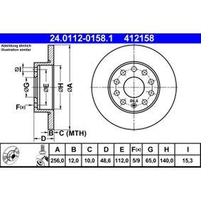 24.0112-0158.1 Bremsscheibe ATE - Markenprodukte billig