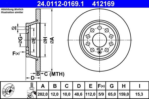 24.0112-0169.1 Scheibenbremsen ATE - Markenprodukte billig