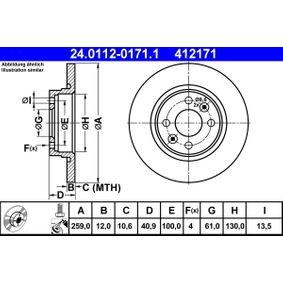 24.0112-0171.1 Bremsscheibe ATE - Markenprodukte billig