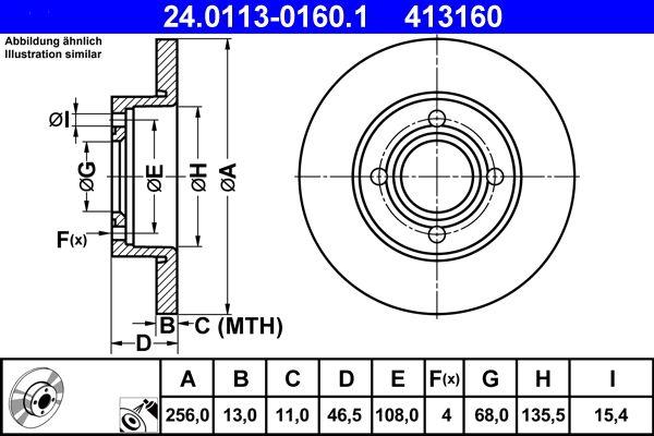 Disco freno ATE 24.0113-0160.1 Recensioni