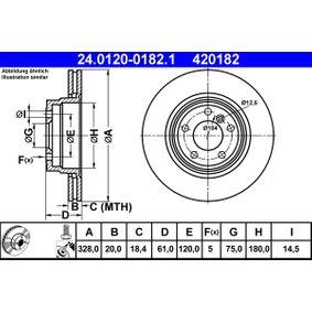 stabdžių diskas 24.0120-0182.1 už BMW Z8 su nuolaida — įsigykite dabar!