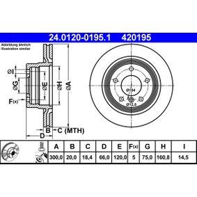 24.0120-0195.1 Scheibenbremsen ATE - Markenprodukte billig