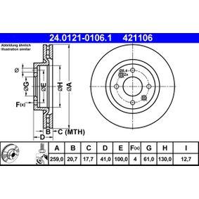 24.0121-0106.1 Bremsscheibe ATE - Markenprodukte billig