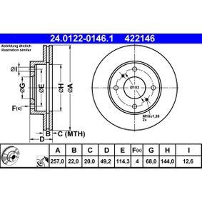 Bremsscheibe 24.0122-0146.1 NISSAN 200 SX (S13) zu stark reduzierten Preisen!
