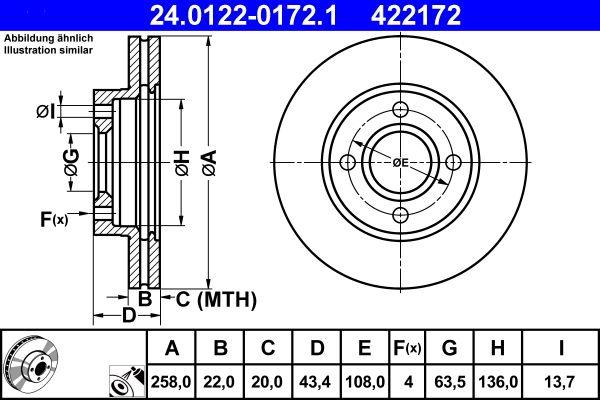 24.0122-0172.1 Спирачен диск ATE - опит