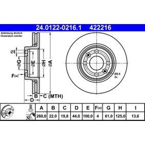 24.0122-0216.1 Bremsscheibe ATE - Markenprodukte billig