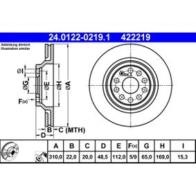 24.0122-0219.1 Brake Disc ATE - Experience and discount prices
