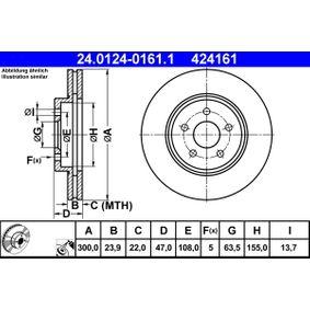 24.0124-0161.1 Bremsscheibe ATE - Markenprodukte billig