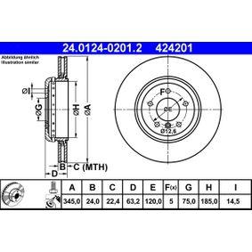 24.0124-0201.2 Scheibenbremsen ATE - Markenprodukte billig