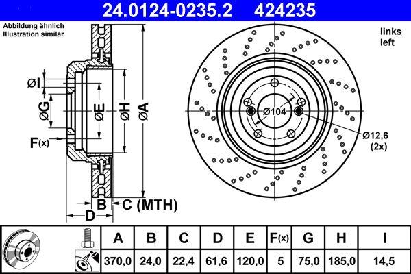 Bromsskiva ATE 24.0124-0235.2 Recensioner