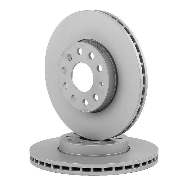 Bremsscheibe ATE Vorderachse, belüftet, beschichtet, hochgekohlt, mit Schrauben Ø: 288,0mm, Lochanzahl: 5, Bremsscheibendicke: 25,0mm (24.0125-0145.1)