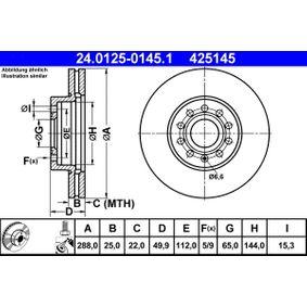 24.0125-0145.1 Δισκόπλακα ATE - Εμπειρία μειωμένων τιμών