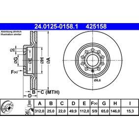 24.0125-0158.1 Disco de freno ATE - Productos de marca económicos