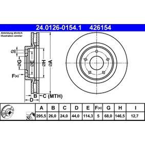 24.0126-0154.1 Bremsscheibe ATE - Markenprodukte billig