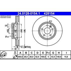 ATE 24.0128-0154.1 Bremsscheibe