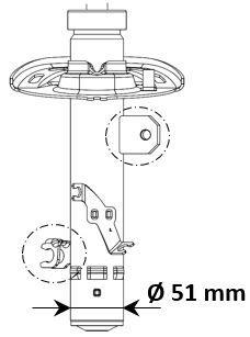 Stoßdämpfer 3338014 von KYB