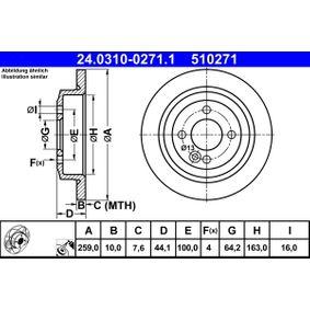 2x Bremsscheibe MAPCO 15658 hinten für MINI