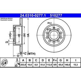 24.0310-0277.1 Bremsscheibe ATE - Markenprodukte billig