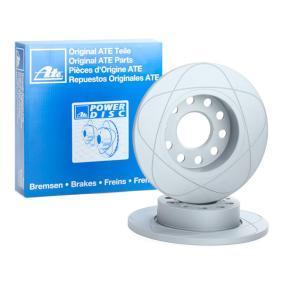 512158 ATE PowerDisc Voll, beschichtet Ø: 256,0mm, Lochanzahl: 5, Bremsscheibendicke: 12,0mm Bremsscheibe 24.0312-0158.1 günstig kaufen