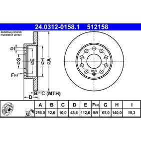 24.0312-0158.1 Bremsscheibe ATE - Markenprodukte billig