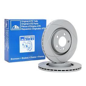 Kupi 522150 ATE PowerDisc prezracevan, prevlecen (premaz), visoko karboniziran, z vijaki Ø: 280,0mm, Stevilo lukenj: 5, Debelina zavornega diska: 22,0mm Zavorni kolut 24.0322-0150.1 poceni