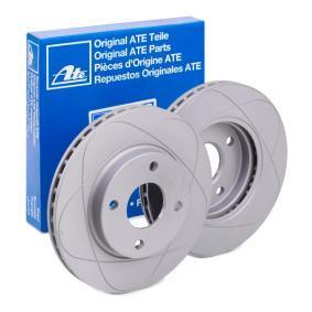 522172 ATE PowerDisc větráno, nater R: 258,0mm, Pocet der: 4, Zesileny brzdovy kotouc: 22,0mm Brzdový kotouč 24.0322-0172.1 kupte si levně