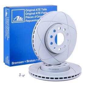 525145 ATE PowerDisc belüftet, beschichtet, hochgekohlt, mit Schrauben Ø: 288,0mm, Lochanzahl: 5, Bremsscheibendicke: 25,0mm Bremsscheibe 24.0325-0145.1 günstig kaufen