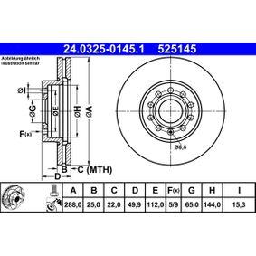 24.0325-0145.1 Brake Disc ATE original quality