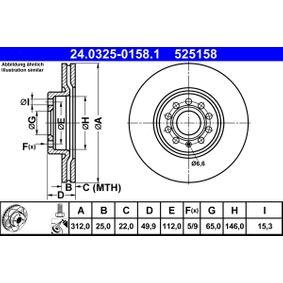 24.0325-0158.1 Bremsscheibe ATE - Markenprodukte billig